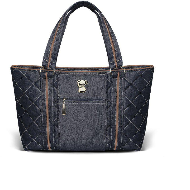 Mala Maternidade Toledo Jeans Mooca Classic for Bags Cor Azul Marinho