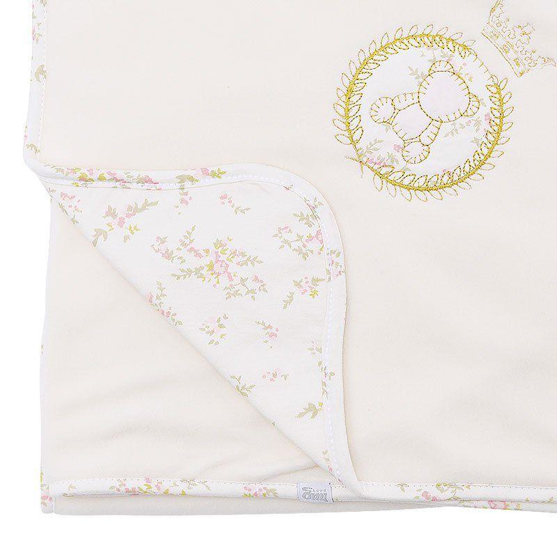 Manta de Bebê Soft Garden Hug Baby Cor Rosa
