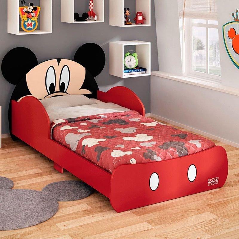 Mini Cama Mickey Disney Pura Magia Cor Vermelho