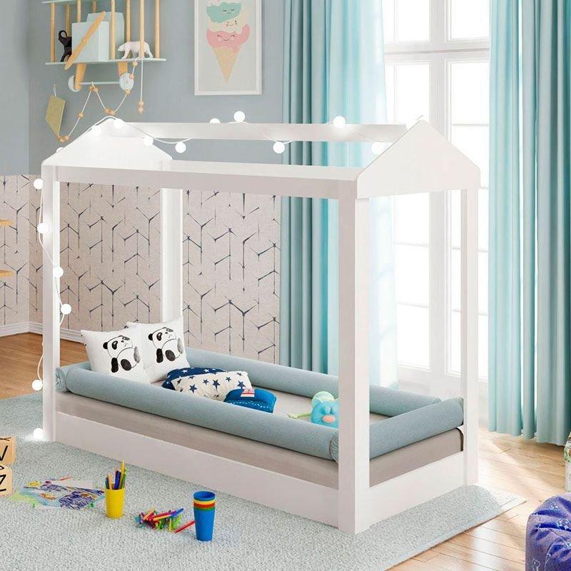 Mini Cama Montessoriana Móveis Estrela Cor Branco