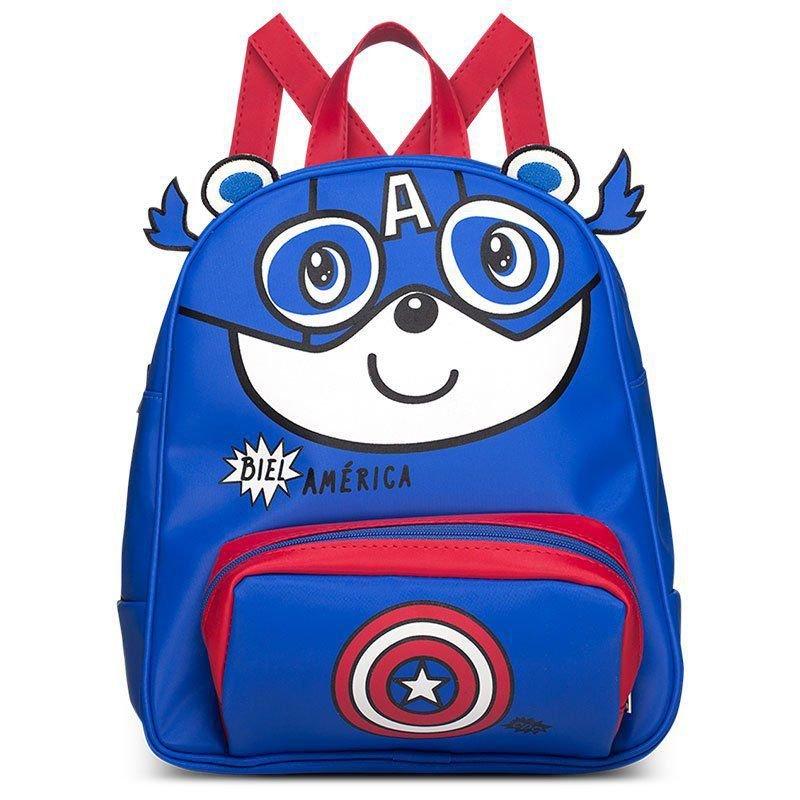 Mochila Infantil Biel América Classic for Bags Cor Azul