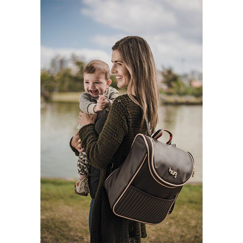Mochila Maternidade Náutica Hug Cor Marrom