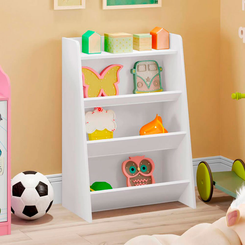 Porta Brinquedos Teco Móveis Estrela Cor Branco