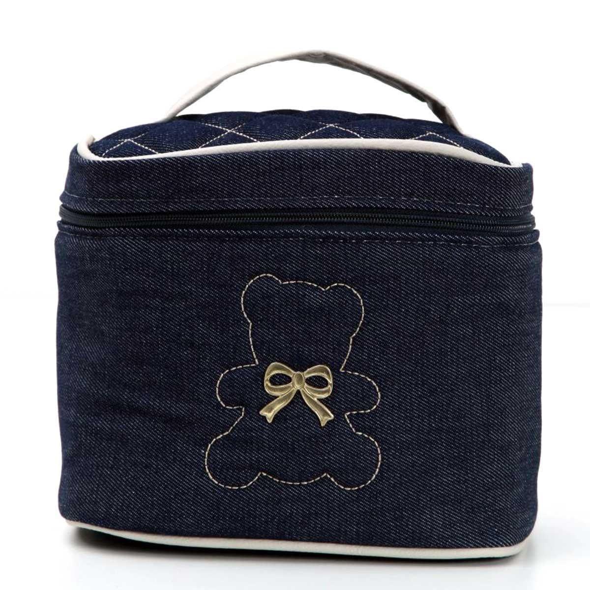 Porta Mamadeira Baby Jeans Hug Cor Azul Marinho