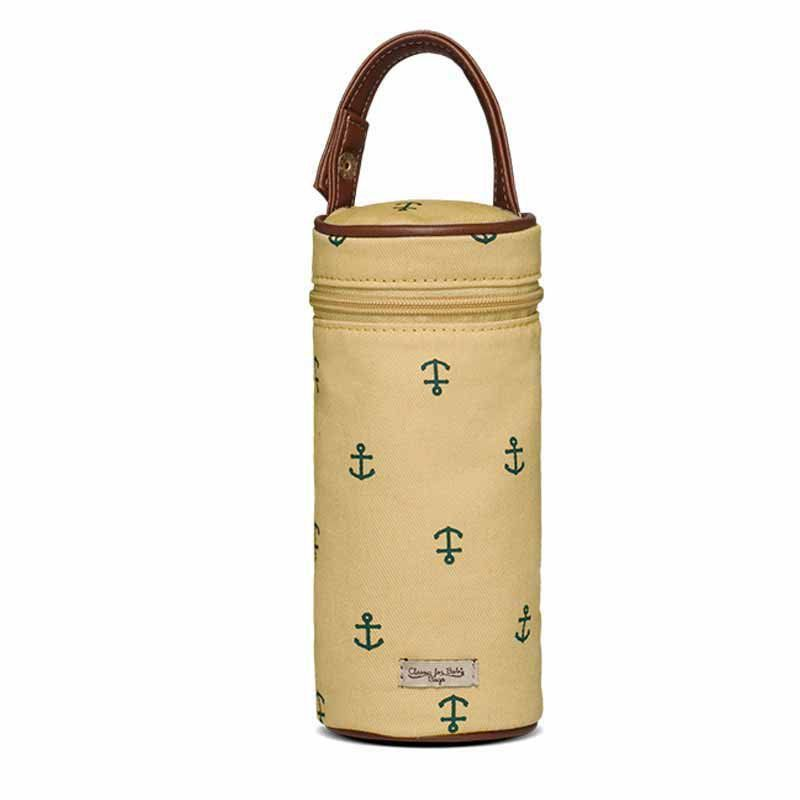 Porta Mamadeira Maternidade Classic for Baby Bags Navy Sarja Cor Caramelo