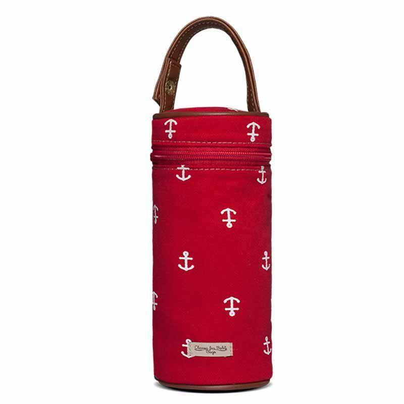 Porta Mamadeira Maternidade Classic for Baby Bags Navy Sarja Cor Vermelho