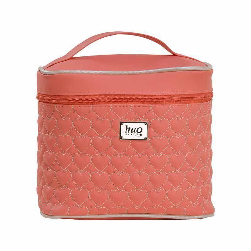 Porta Mamadeira Maternidade Coração de Mãe Hug Cor Coral