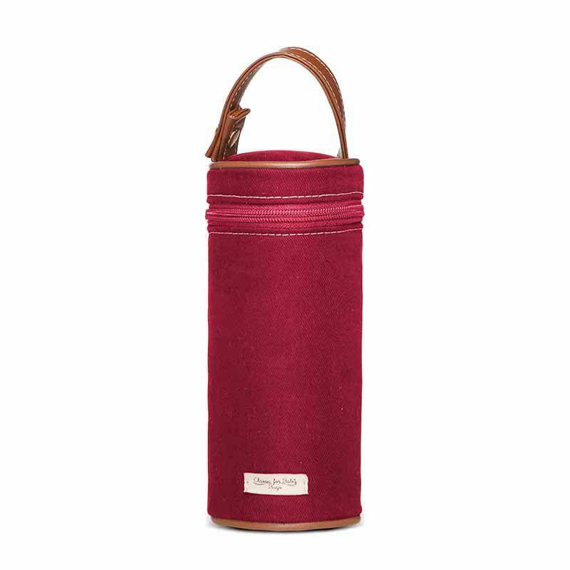 Porta Mamadeira Térmica Adventure Sarja Classic for Baby Bags Cor Vermelho