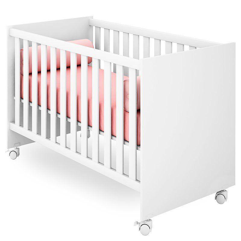 Quarto de Bebê Americano Doce Sonho com Nicho Qmovi Cor Branco Brilho