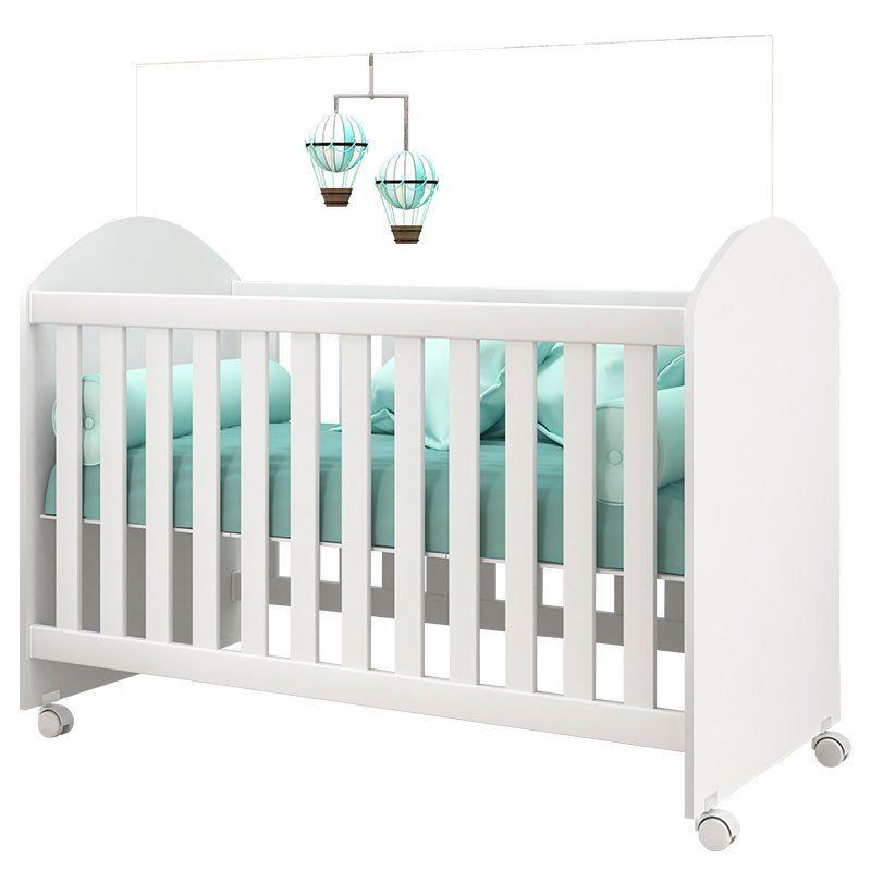 Quarto de Bebê Ametista Peternella Cor Branco Brilho