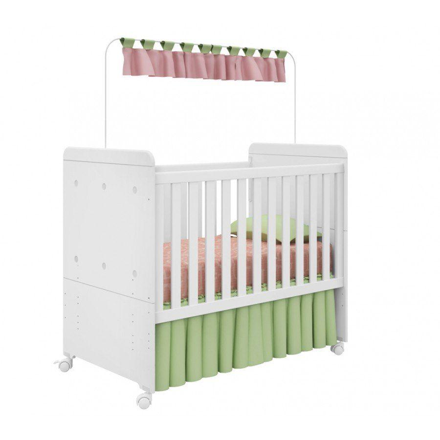 Quarto de Bebê Bambino 4 Portas Fiorello Cor Branco Brilho