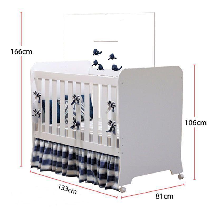 Quarto de Bebê Carícia 3 Portas Móveis Estrela Cor Branco Acetinado