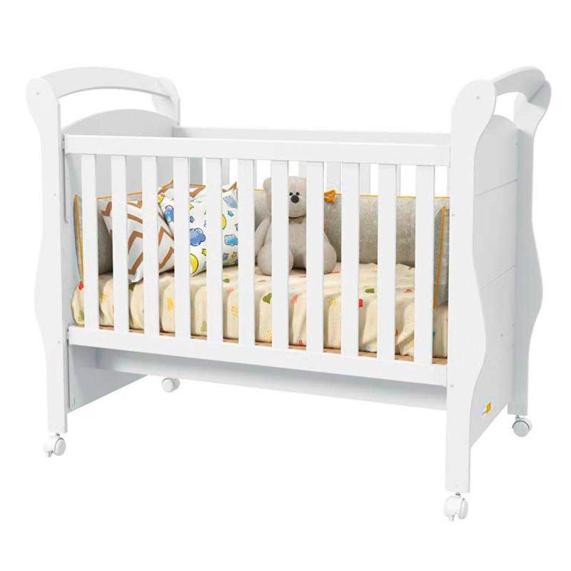 Quarto de Bebê Confort 4 Portas Matic Cor Branco Acetinado
