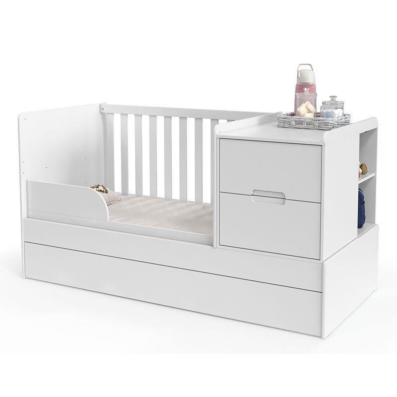 Quarto de Bebê Crescer Tutto New Matic Cor Branco Acetinado