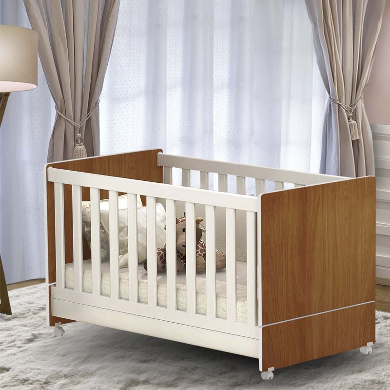 Quarto de Bebê Diamante Peternella Cor Nature Branco