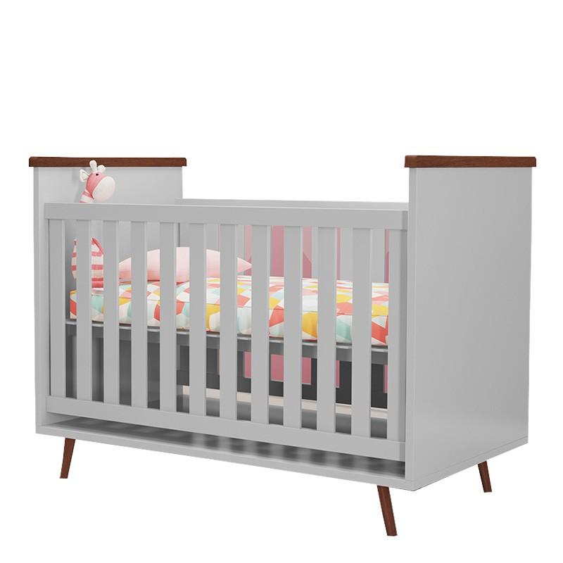 Quarto de Bebê Diamante Phoenix Baby Cor Cinza Amadeirado