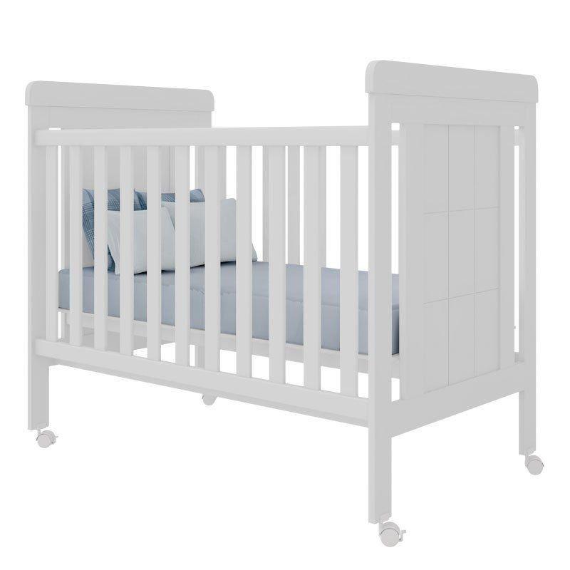 Quarto de Bebê Eloísa e Berço Duda Phoenix Cor Branco Brilho