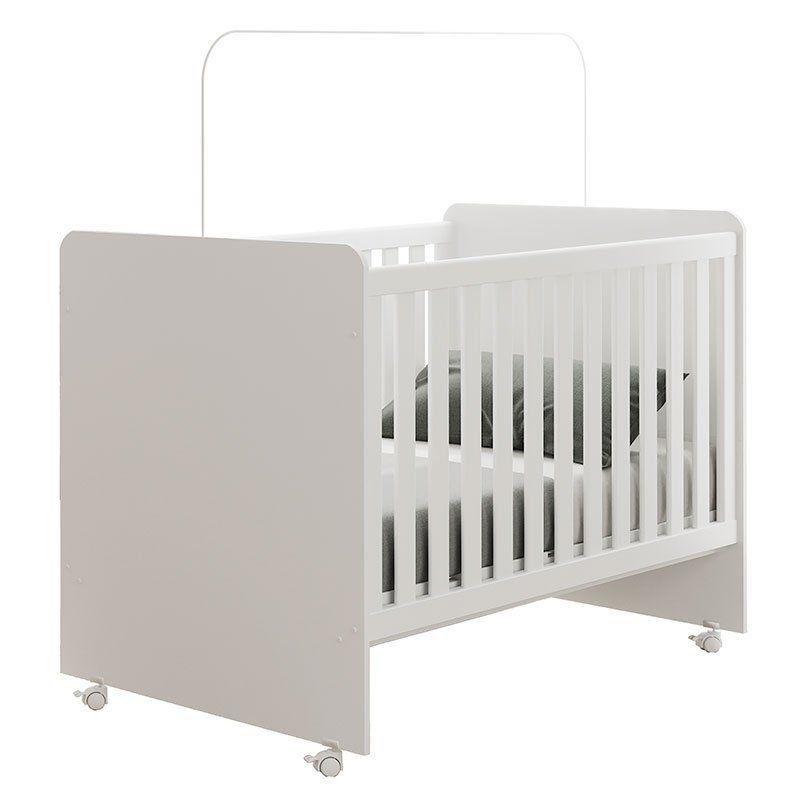 Quarto de Bebê Helena com Berço Sonho Cor Branco Brilho