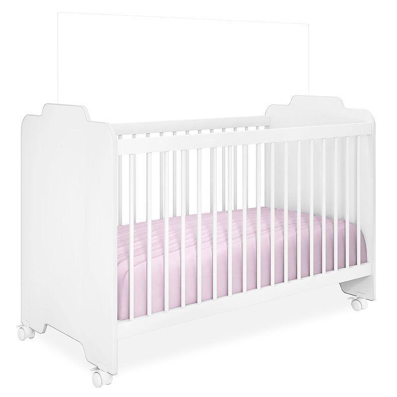 Quarto de Bebê Isabele com Berço Ternura Peternella Cor Branco Brilho
