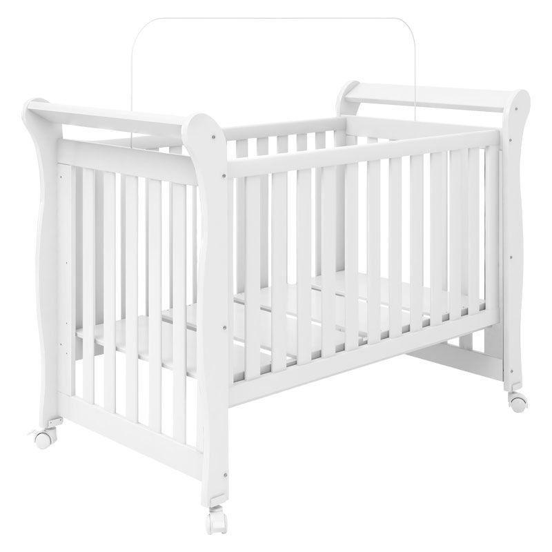 Quarto de Bebê Isabele com Berço Xodó Fiorello Cor Branco Brilho