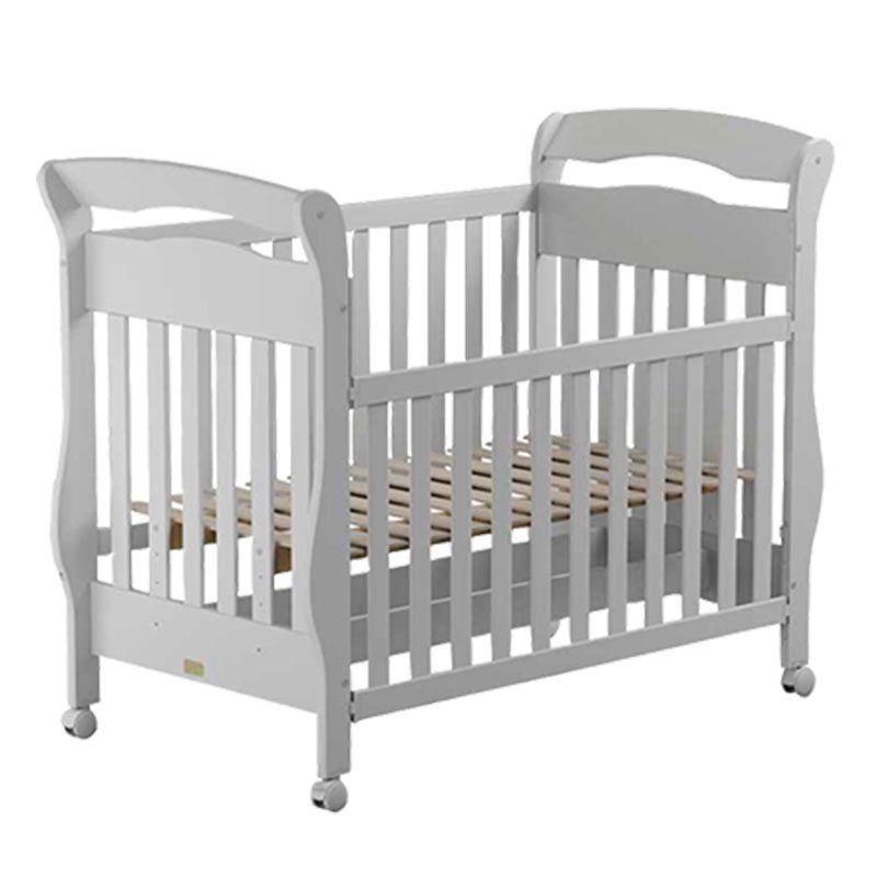 Quarto de Bebê Letícia com Berço Bambini Matic Cor Branco Brilho