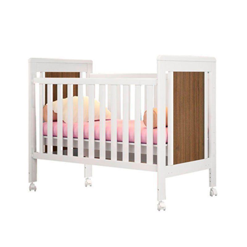 Quarto de Bebê Letícia e Berço Duda Cor Banco Acetinado Amadeirado