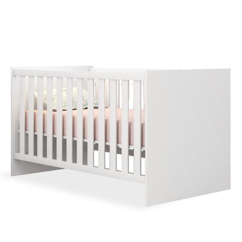 Quarto de Bebê Louise com Berço Doce Sonho Cor Branco Brilho