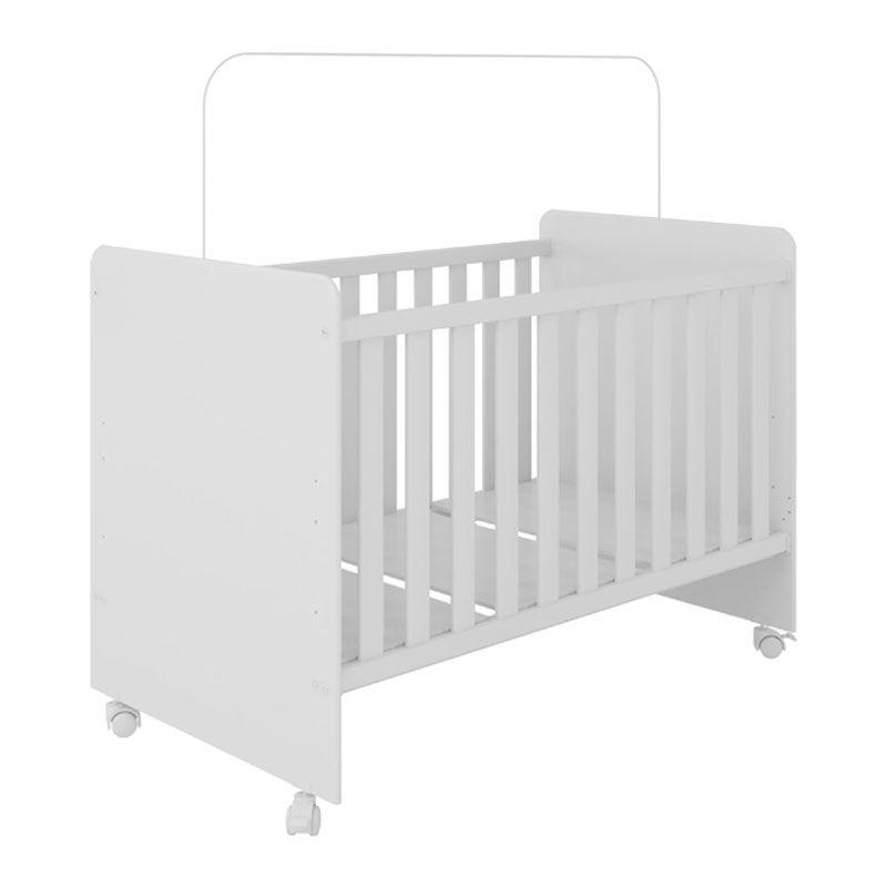Quarto de Bebê Naninha com Berço Visione Fiorello Cor Branco Brilho
