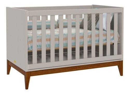 Quarto De Bebê Nature 2 Portas Matic Cor Cinza Eco Wood