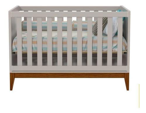 Quarto De Bebê Nature 3 Portas Matic Cor Cinza Eco Wood