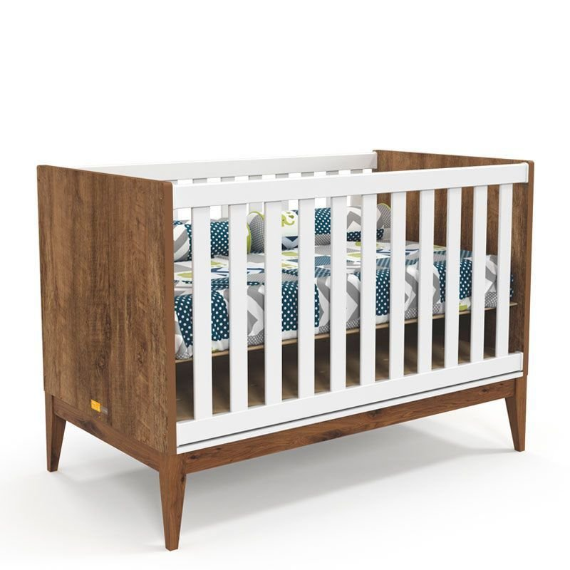 Quarto de Bebê Nature Clean 2 Portas Matic Cor Branco Teka