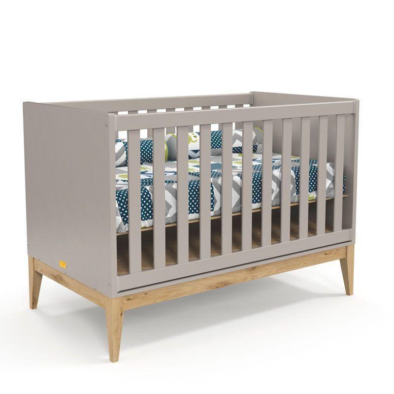 Quarto de Bebê Nature Clean 2 Portas Matic Cor Cinza Natural