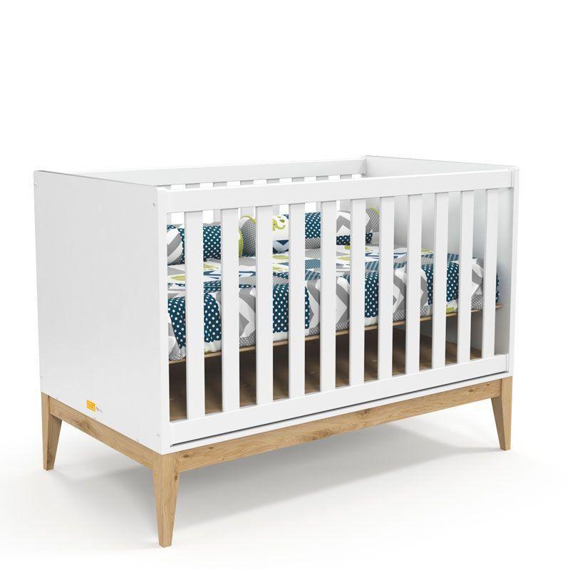 Quarto de Bebê Nature Clean 3 Portas Matic Cor Branco Soft Natural
