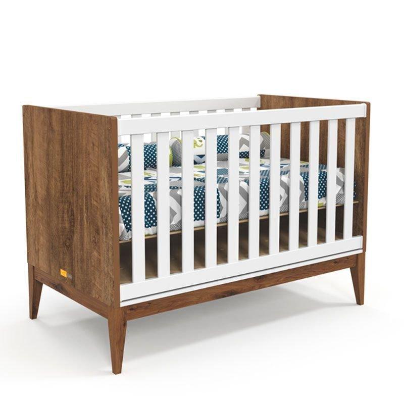 Quarto de Bebê Nature Clean 3 Portas Matic Cor Branco Teka