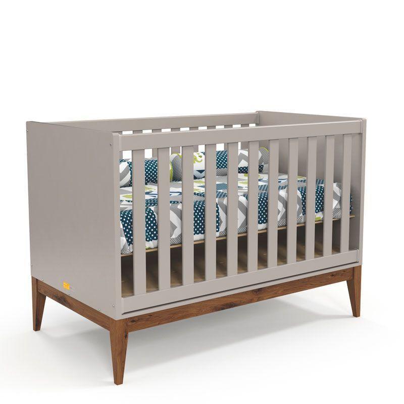 Quarto de Bebê Nature Clean 3 Portas Matic Cor Cinza Eco Wod
