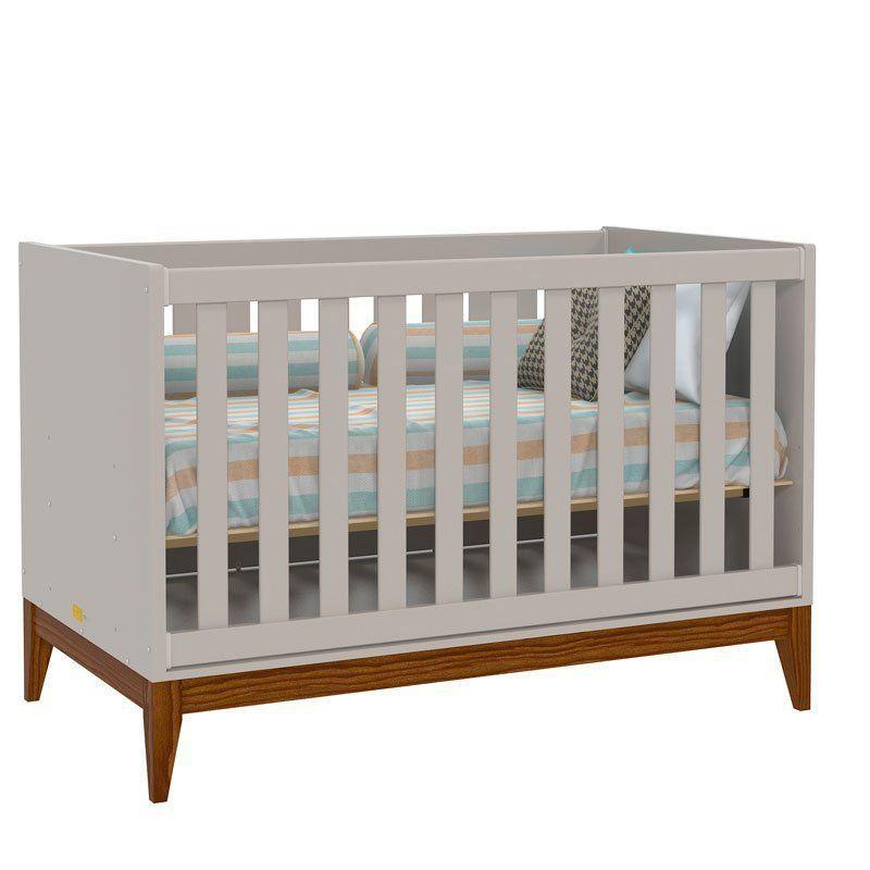 Quarto de Bebê Nature Glass 2 Portas Matic Cor Cinza Eco Wod
