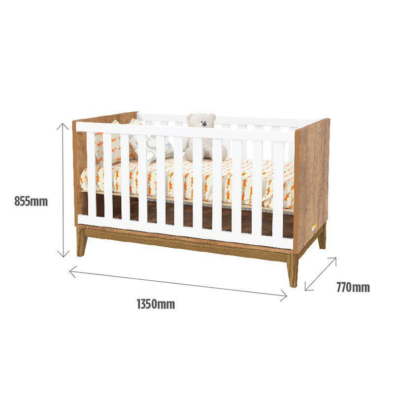 Quarto de Bebê Nature Glass Matic Cor Branco Acetinado Teka