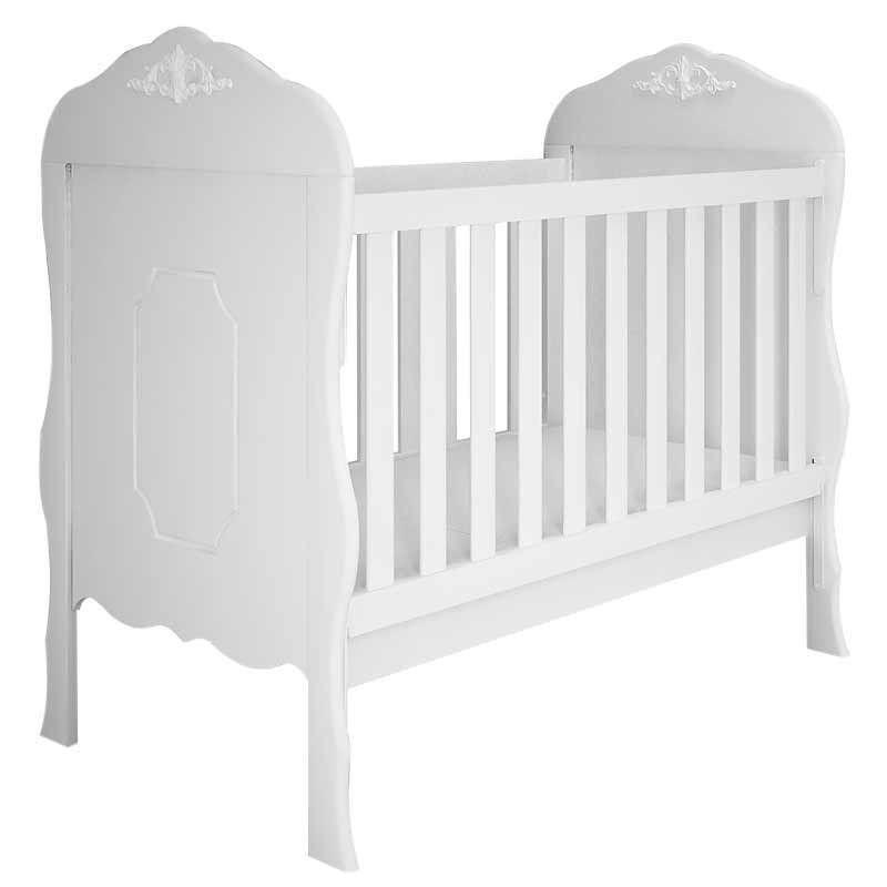 Quarto de Bebê Provençal Realeza 4 Portas Canaã Cor Branco Acetinado