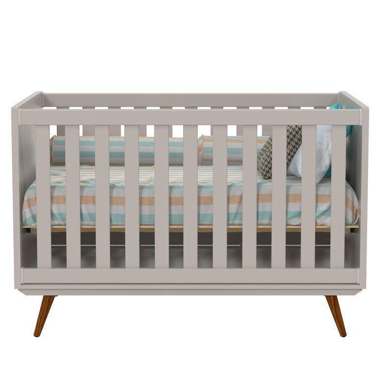 Quarto de Bebê Retrô 2 Portas Matic Cor Cinza Eco Wood