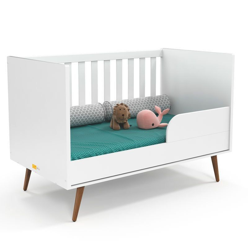 Quarto de Bebê Retrô Clean 2 Portas Matic Cor Branco Eco Wod