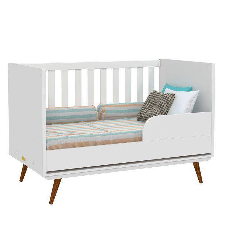 Quarto de Bebê Retrô Glass 2 Portas Matic Cor Branco