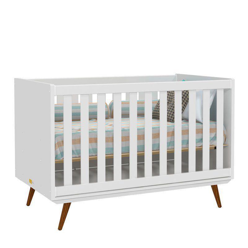 Quarto de Bebê Retrô Glass 3 Portas Matic Cor Branco