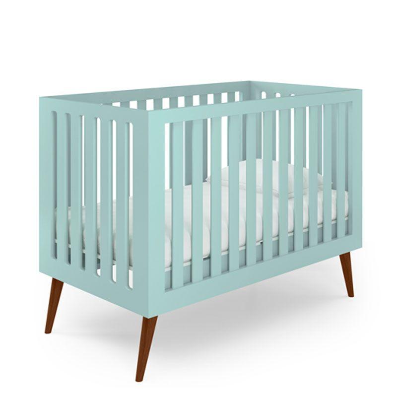 Quarto de Bebê Retrô Smart Baby Fiorello Cor Verde Menta