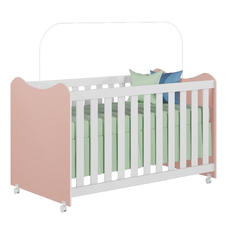 Quarto de Bebê Rubi Peternella Cor Branco Rosê
