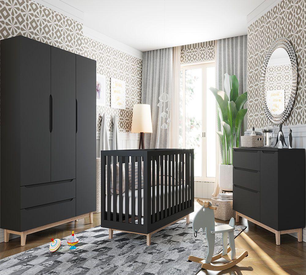 Quarto de Bebê Smart Baby Fiorello Cor Chumbo