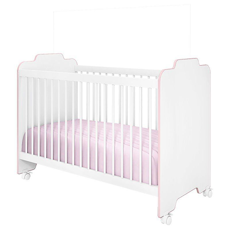Quarto de Bebê Ternura Peternella Cor Branco Rosa
