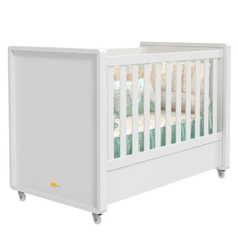 Quarto de Bebê Tutto New Matic Cor Branco Acetinado