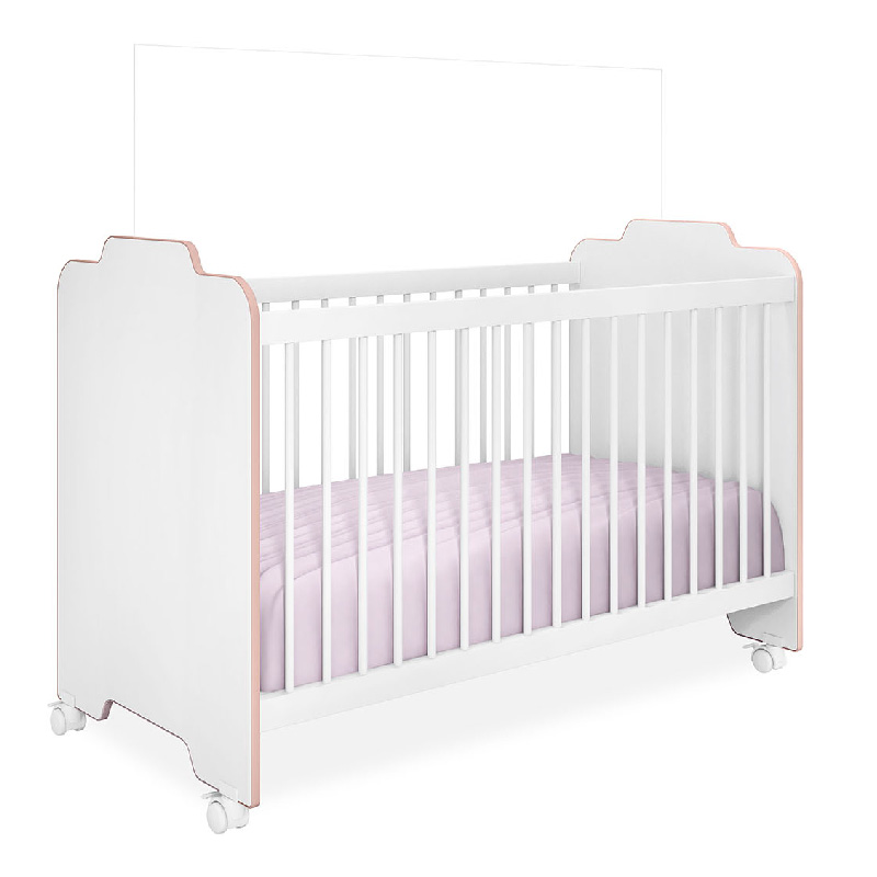 Quarto de Bebê Vitória Peternella Cor Branco/Rosê