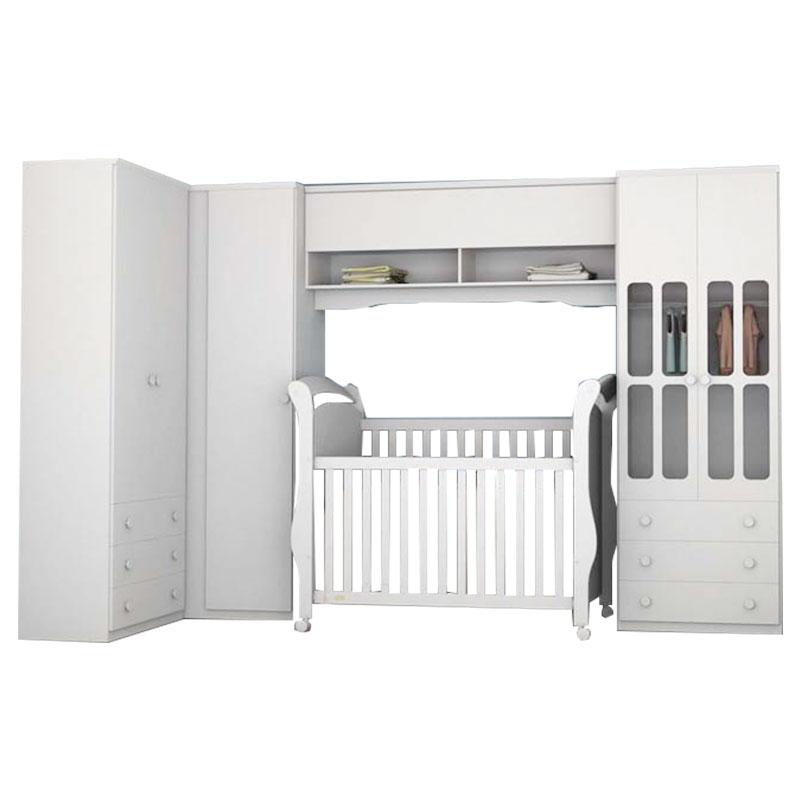Quarto de Bebê Modulado Delicato Branco Brilho - Matic