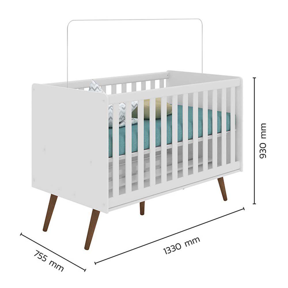 Quarto Infantil Retrô 3 Portas Qmovi Cor Branco